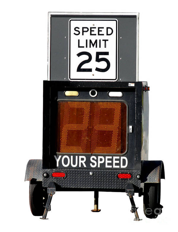 Speed Art Print featuring the photograph Speed Limit Monitor by Olivier Le Queinec
