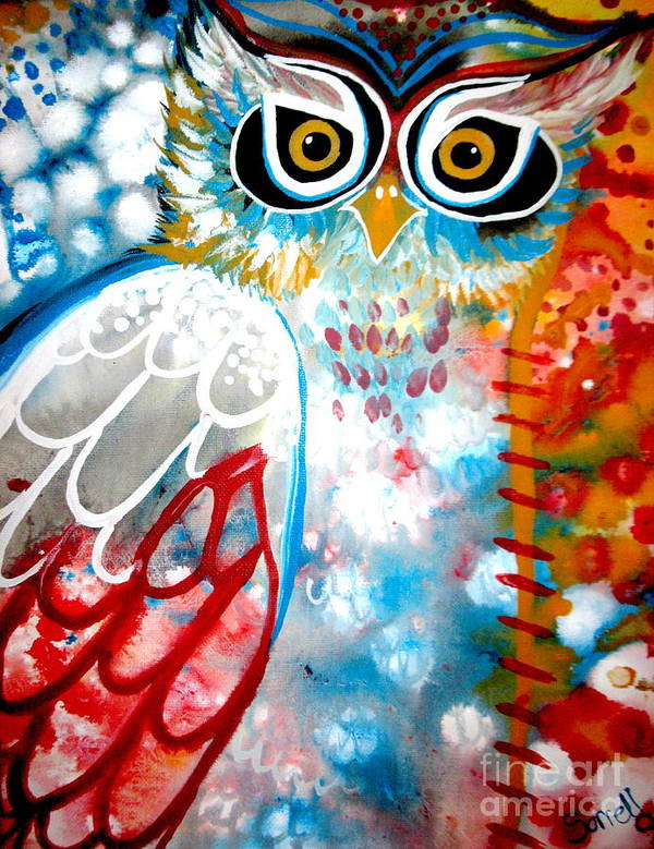 Owl Art Print featuring the painting Sprinkles by Amy Sorrell