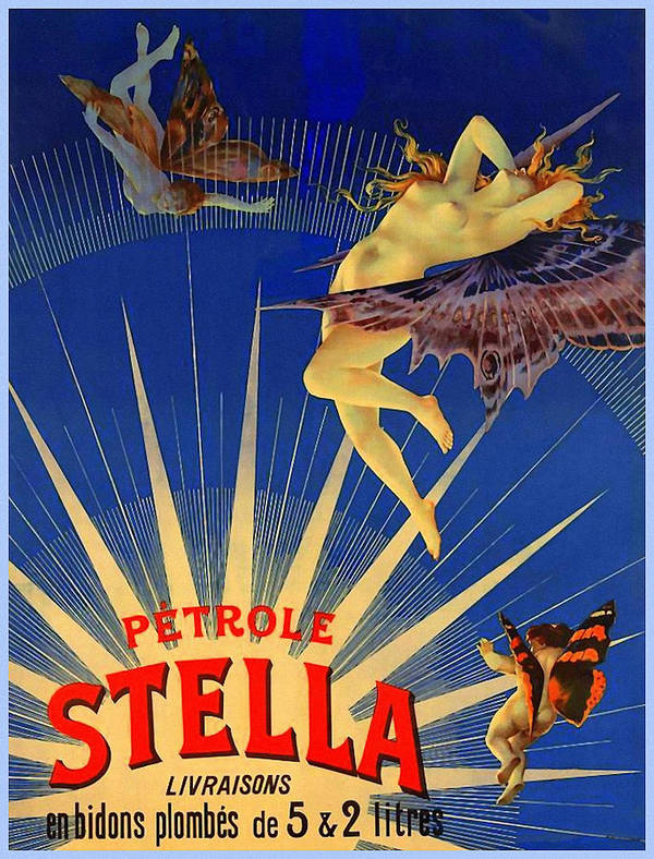 Art Art Print featuring the mixed media Stella Petrol by Charlie Ross