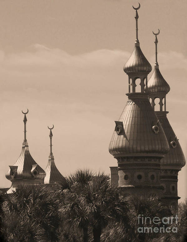 Tampa Art Print featuring the photograph Tampa Minarets by Carol Groenen