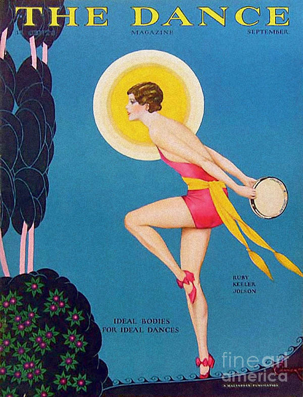 Covers Art Print featuring the drawing The Dance 1929 1920s Usa Ruby Keeler by The Advertising Archives