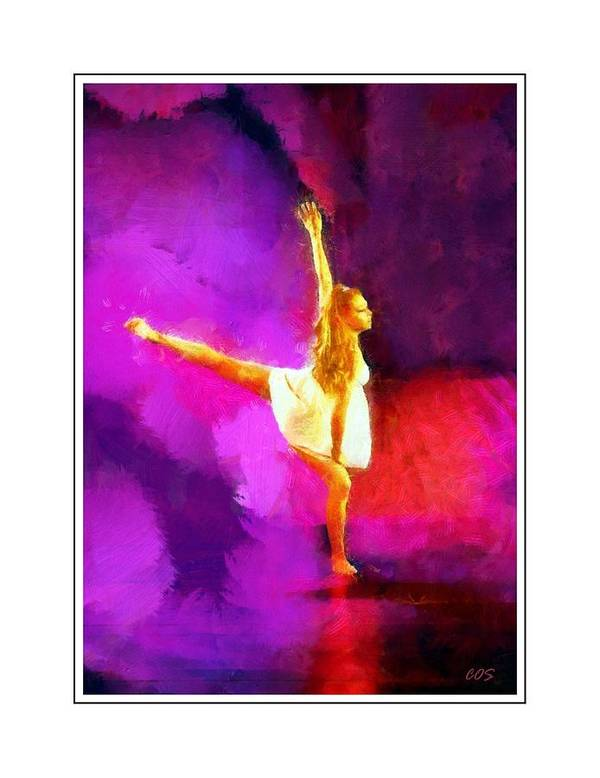 Dancer Art Print featuring the digital art The Dancer 3 by Carrie OBrien Sibley