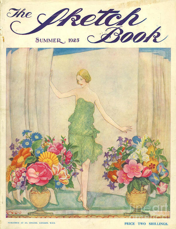1920�s Art Print featuring the drawing The Sketch Book 1925 1920s Uk Womens by The Advertising Archives