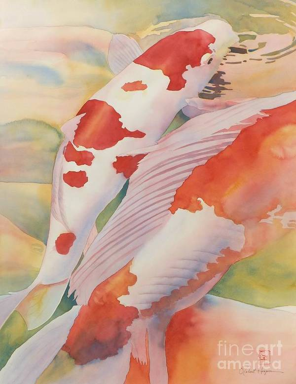 Watercolor Art Print featuring the painting The Yellow River by Robert Hooper