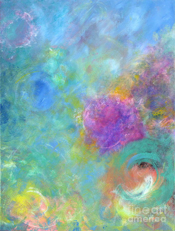 Acrylic Painting Art Print featuring the tapestry - textile Thoughts Of Heaven by Jason Stephen