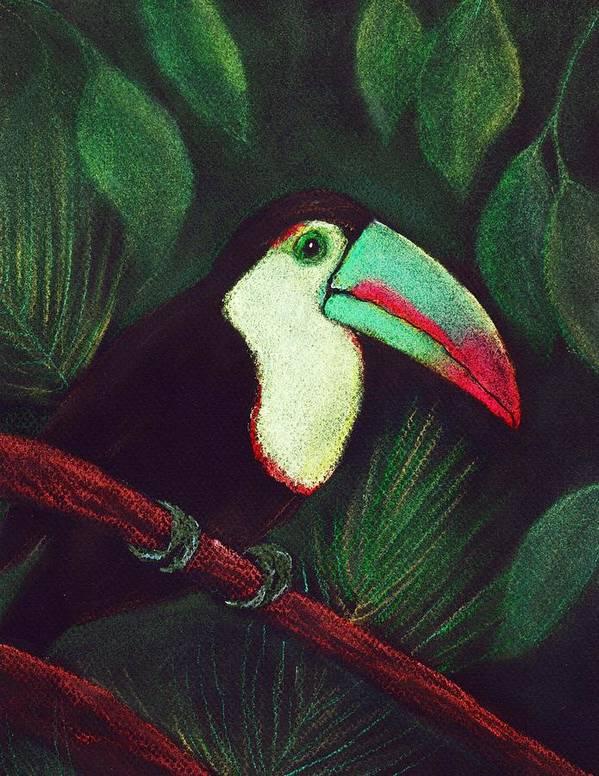 Malakhova Art Print featuring the painting Toucan by Anastasiya Malakhova