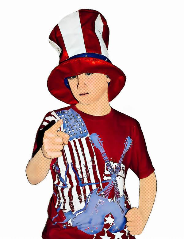 Boy Art Print featuring the photograph Uncle Sam by Susan Leggett