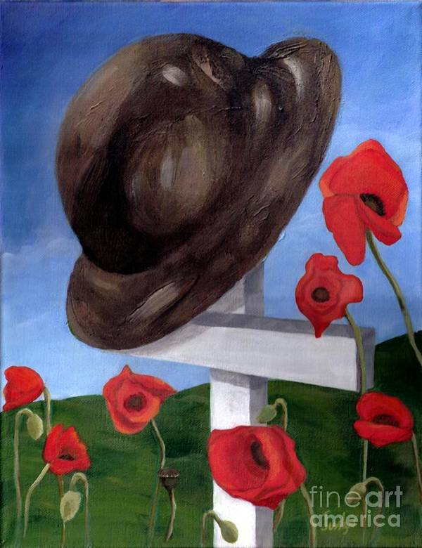 Ww1 Art Print featuring the painting Where They Fell by Jesslyn Fraser
