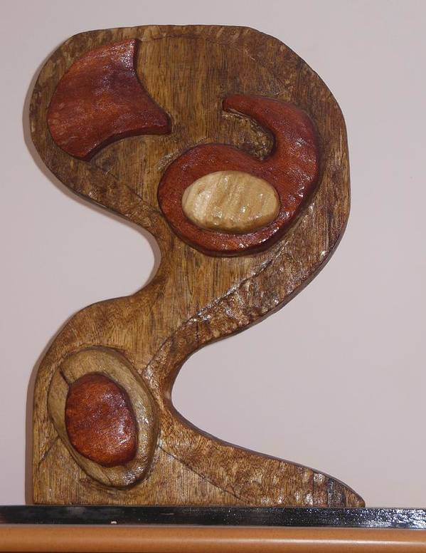 Yin And Yang Art Print featuring the sculpture Yin And Yang Front View by Esther Newman-Cohen