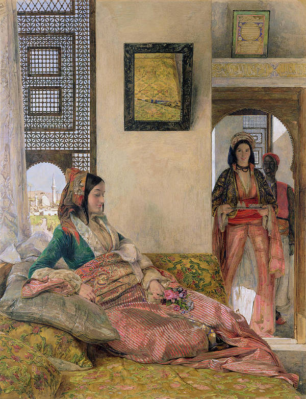 Life In The Harem Print featuring the painting Life In The Harem - Cairo by John Frederick Lewis