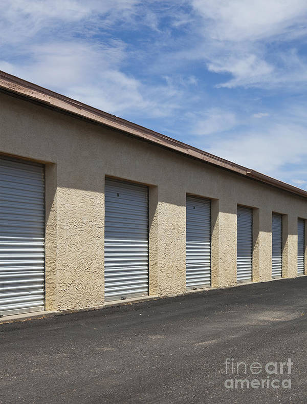 Architectural Detail Art Print featuring the photograph Commercial Storage Facility by Paul Edmondson