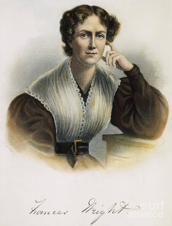 19th Century Art Print featuring the photograph Frances Wright (1795-1852) by Granger