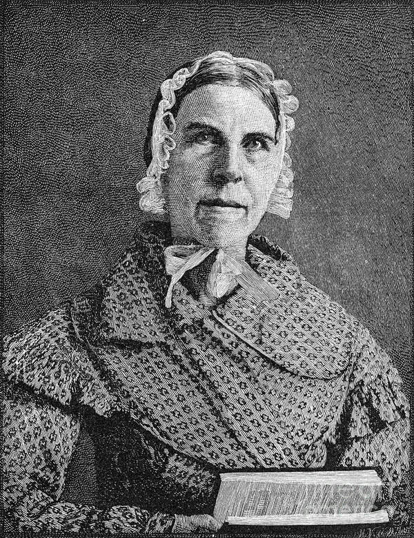 19th Century Art Print featuring the photograph Sarah Moore Grimke by Granger
