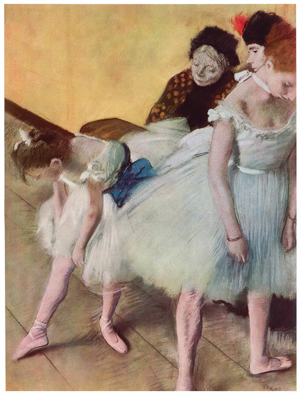 The Dancing Class Art Print featuring the painting The Dancing Class by Edgar Degas