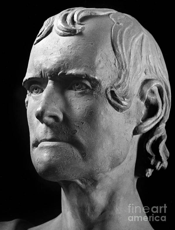 1825 Print featuring the photograph Thomas Jefferson (1743-1826) by Granger