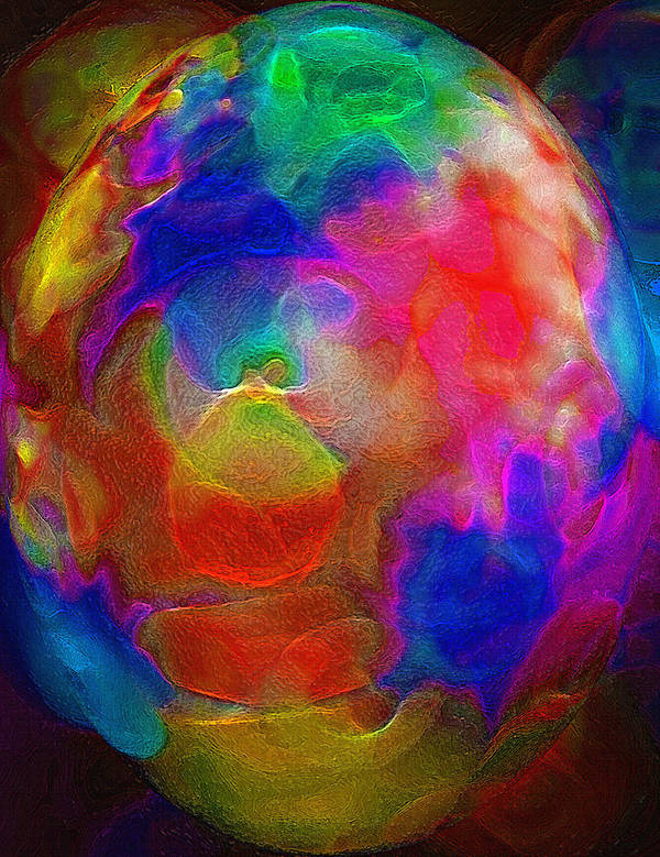 Egg Art Print featuring the photograph Abstract - The Egg by Steve Ohlsen