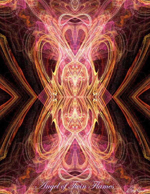 Angel Of Twin Flames Art Print