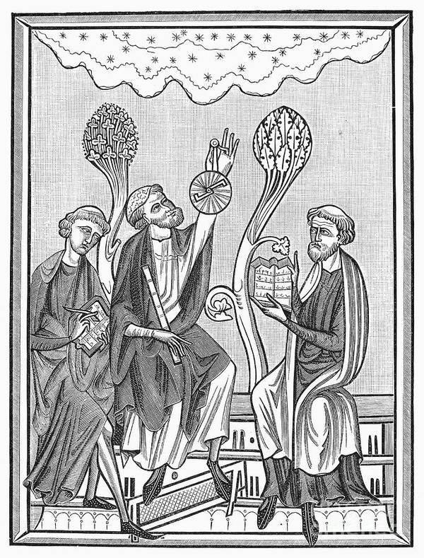 13th Century Art Print featuring the photograph Astronomy, 13th Century by Granger