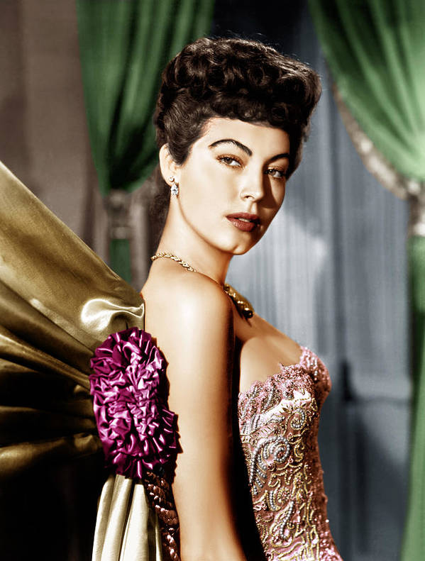 1940s Portraits Art Print featuring the photograph Ava Gardner, Ca. Late 1940s by Everett