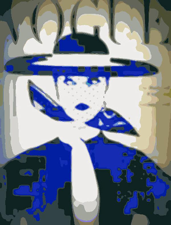Vogue Art Print featuring the photograph Blue Vogue by K Arthur