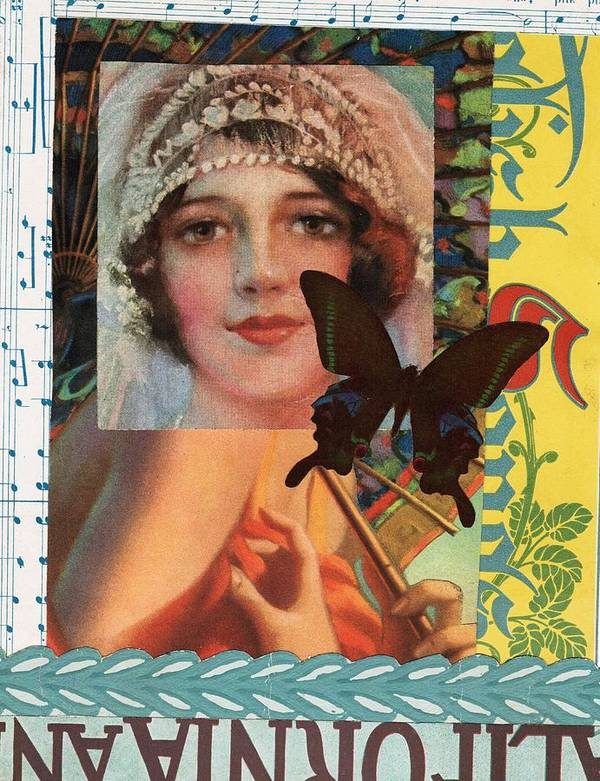 Vintage Art Print featuring the mixed media Butterfly Bride by Theo Billings