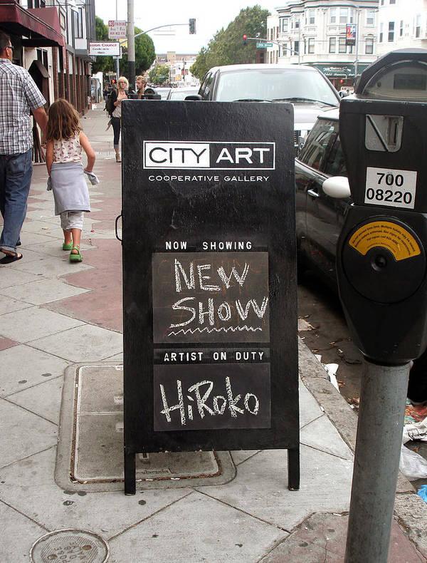Gallery Art Print featuring the photograph City Art Gallery Sign by Hiroko Sakai