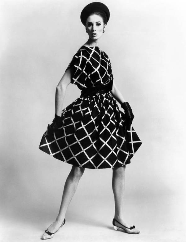 History Art Print featuring the photograph Dress By Pauline Trigere. Short by Everett