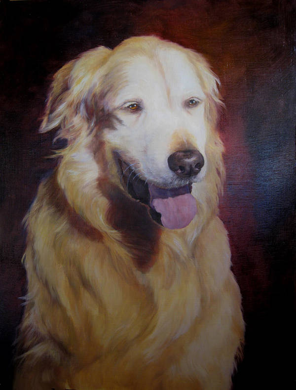 Yellow Lab Art Print featuring the painting General by Mary Buergin