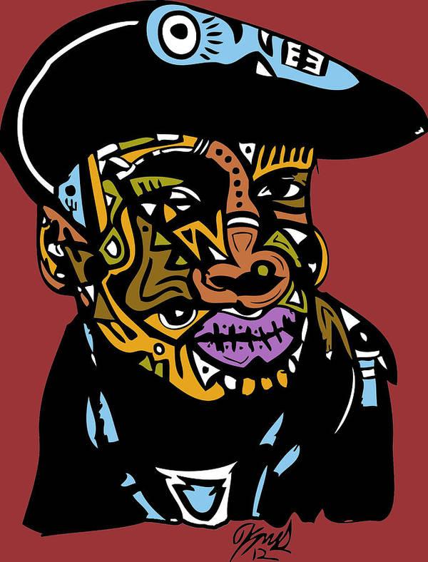 Founder Art Print featuring the digital art Grand Master Flash by Kamoni Khem