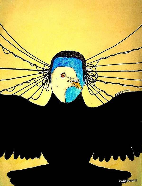 Interpret Signs Art Print featuring the digital art Hidden Face Of Prisons by Paulo Zerbato