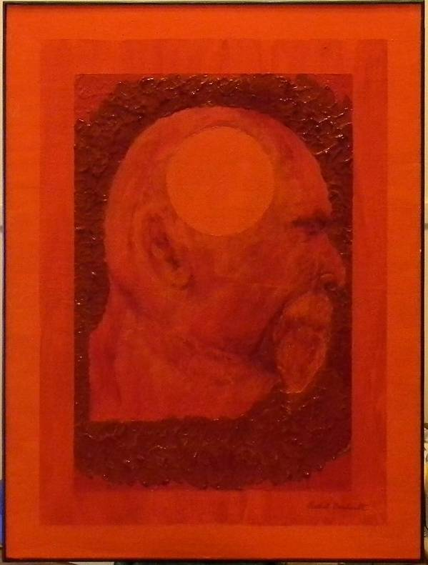 Self Portrait Art Print featuring the painting Inner Space Or The Dot Within by Gilbert Bernhardt