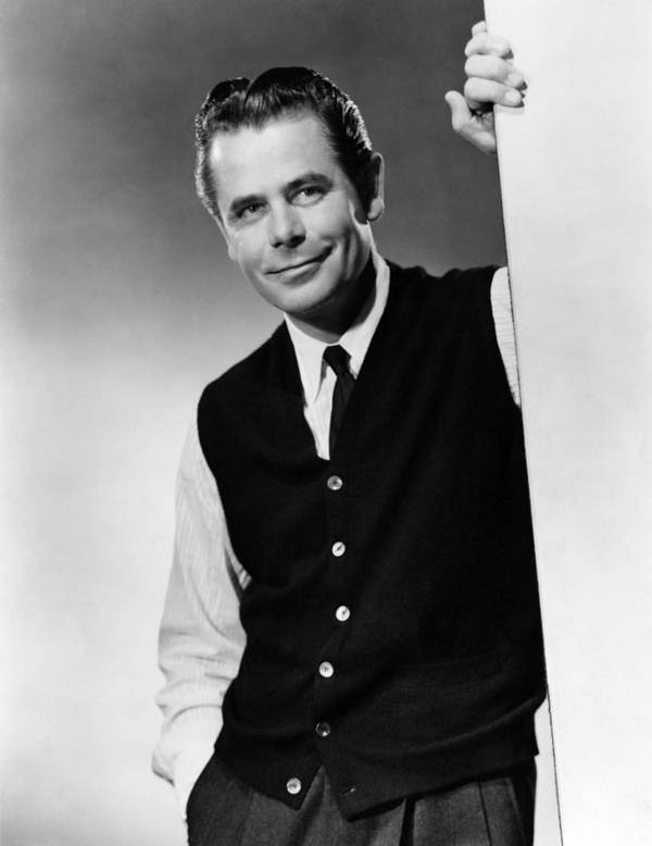 1950s Portraits Art Print featuring the photograph Interrupted Melody, Glenn Ford, 1955 by Everett