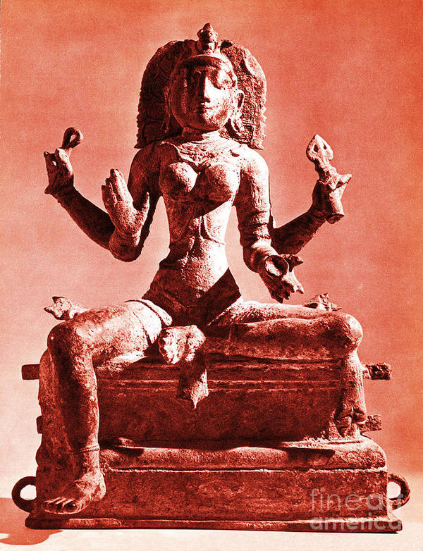 Kali Art Print featuring the photograph Kali by Photo Researchers