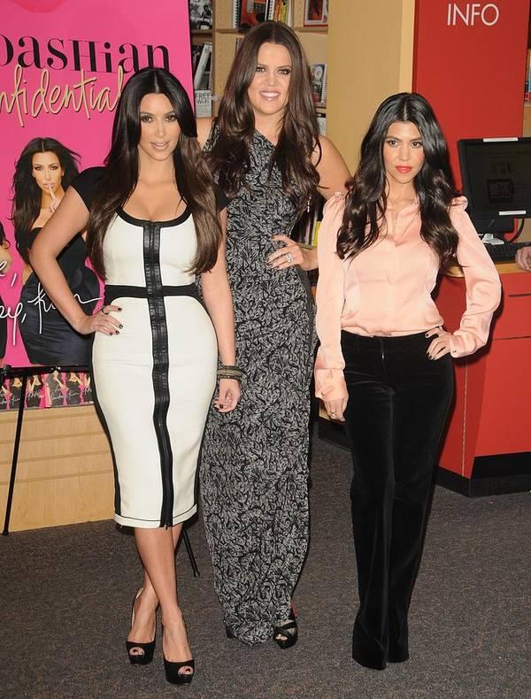 Kim Kardashian Print featuring the photograph Kim Kardashian, Khloe Kardashian by Everett