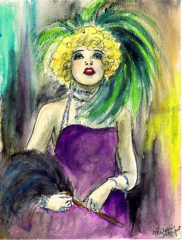 Nostalgia Art Print featuring the drawing Merry Widow by Mel Thompson