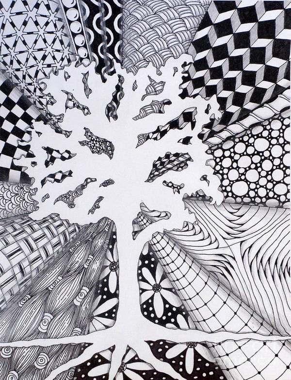 Tree Art Print featuring the drawing Missing Tree by Christine Peterson