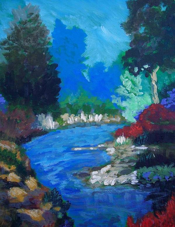 Landscape Art Print featuring the painting Natures Red White And Blue by Robert Gross