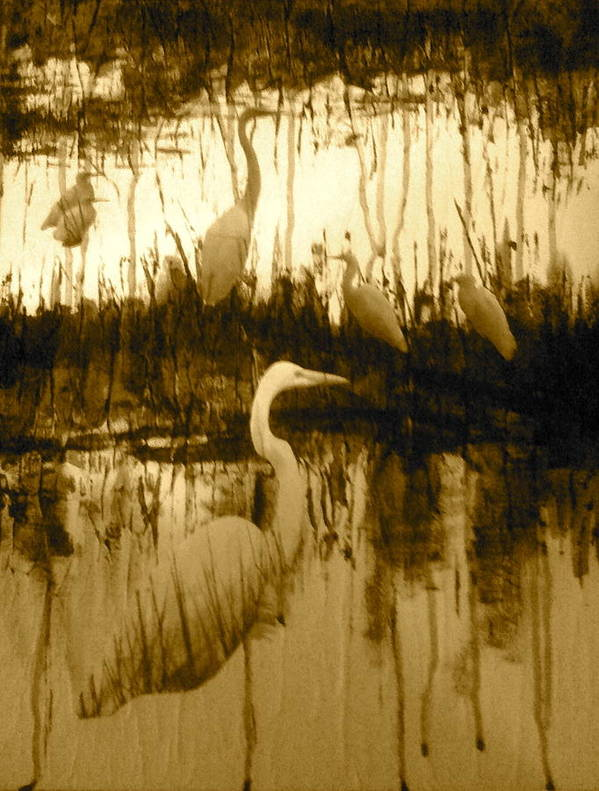Marsh Art Print featuring the painting Ninigret Pond by Dave Norberg