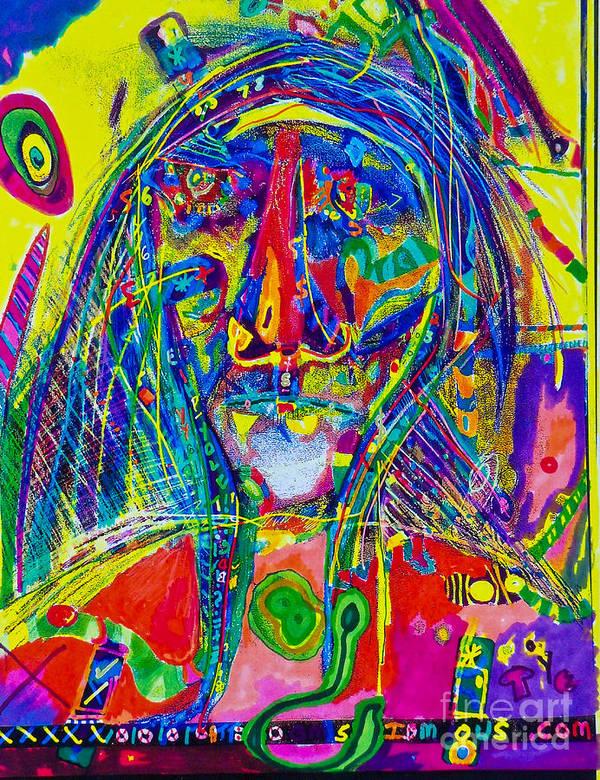 Art Print featuring the mixed media Pastel Man 16 by Bill Davis