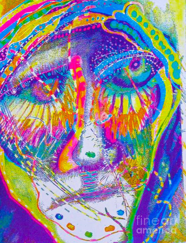 New Image Painting Art Print featuring the mixed media Pastel Man 23 by Bill Davis