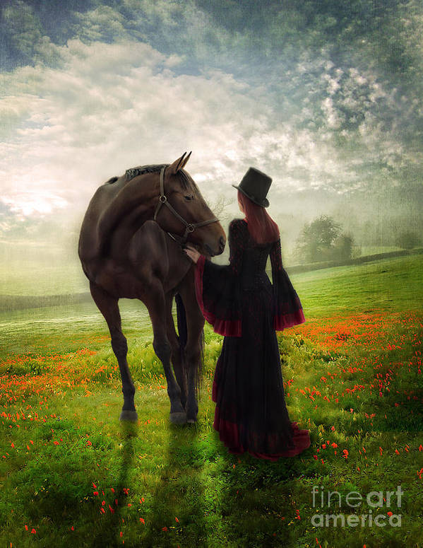 Art Print featuring the photograph Poppy In The Field by Eugene James