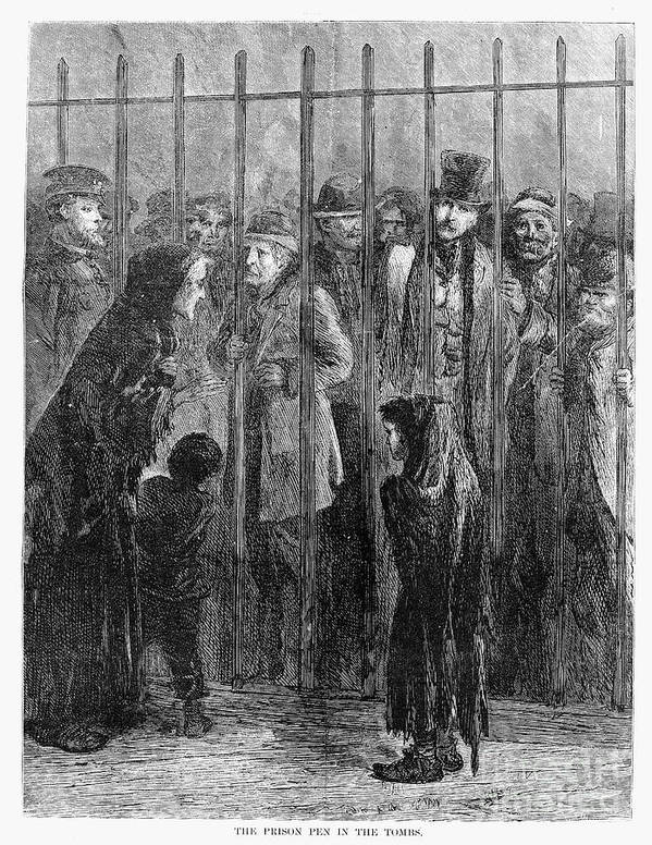 1871 Art Print featuring the photograph Prison: The Tombs, 1871 by Granger
