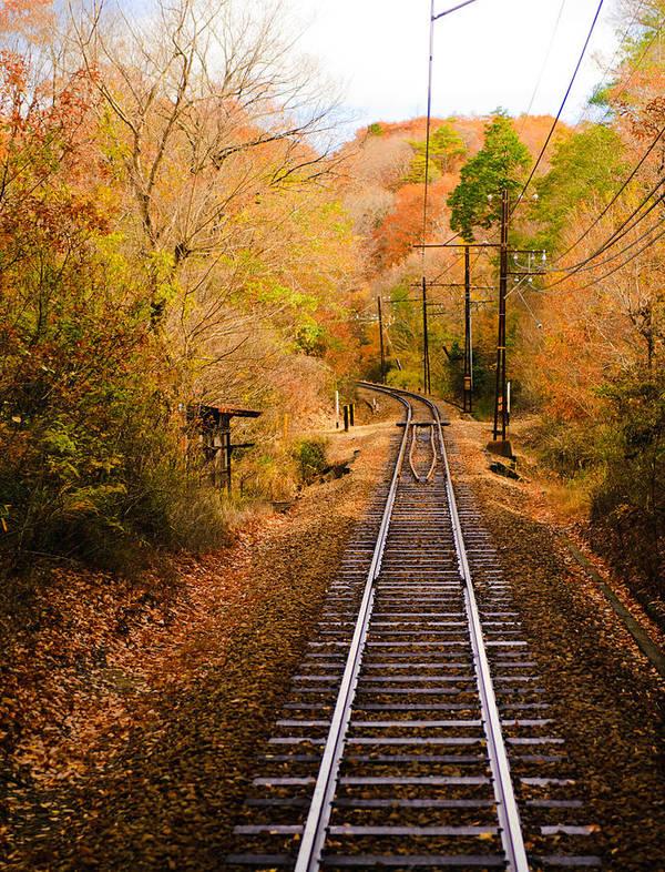Vertical Art Print featuring the photograph Railway Track by (c) Eunkyung Katrien Park