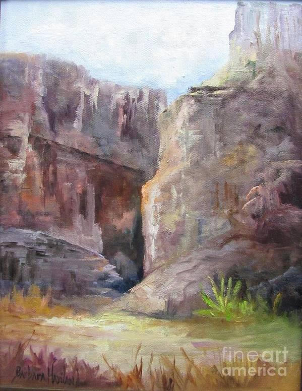 Santa Elena Canyon Art Print featuring the painting Santa Elena Canyon Big Bend by Barbara Haviland