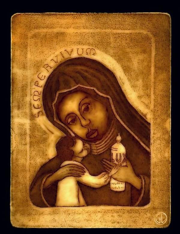 Icon Art Print featuring the digital art Sempervivum by Gun Legler