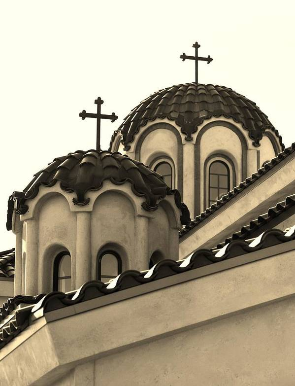St. Piasius Monastery Art Print featuring the photograph St Piasius by Dirk Cowart