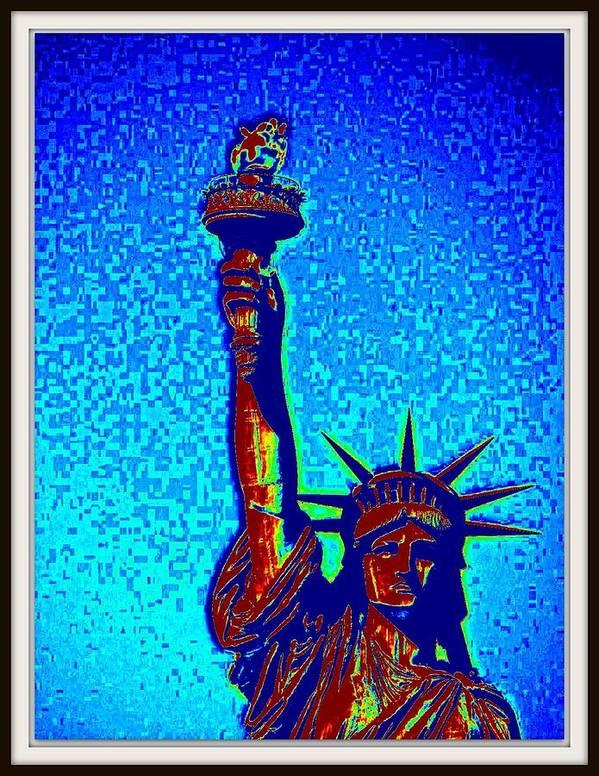 Statue Of Liberty---animal Photographs-sun Raise At Himalayas-sun Set Art Print featuring the photograph Statue Of Liberty-4 by Anand Swaroop Manchiraju