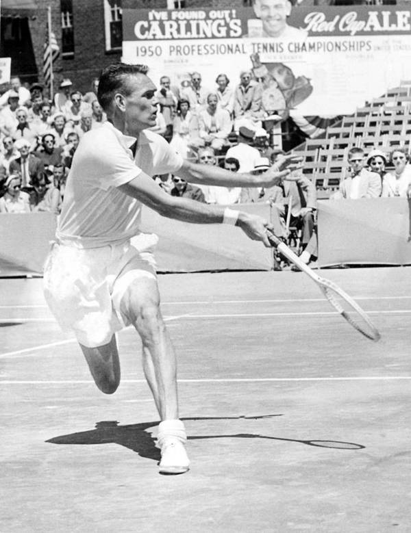 1950s Candids Art Print featuring the photograph Tennis Champion Jack Kramer, Playing by Everett