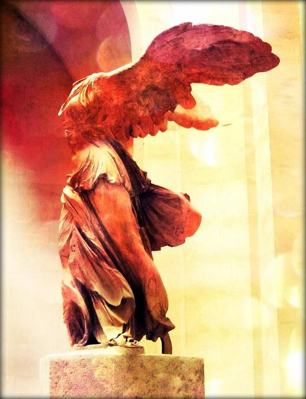 The Winged Victory Print featuring the photograph The Winged Victory by Marianna Mills