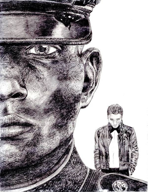 Marine Art Print featuring the drawing Who Fights Our Wars by Blake Grigorian